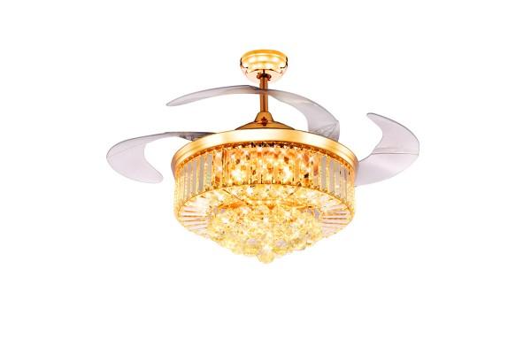 Quạt trần đèn pha lê CV-2 Luxury